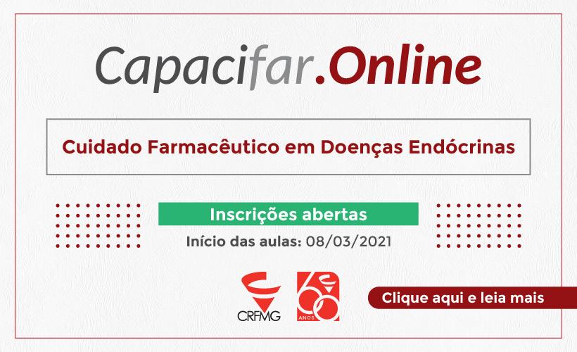 Inscrições abertas para o curso Cuidado Farmacêutico em Doenças Endócrinas